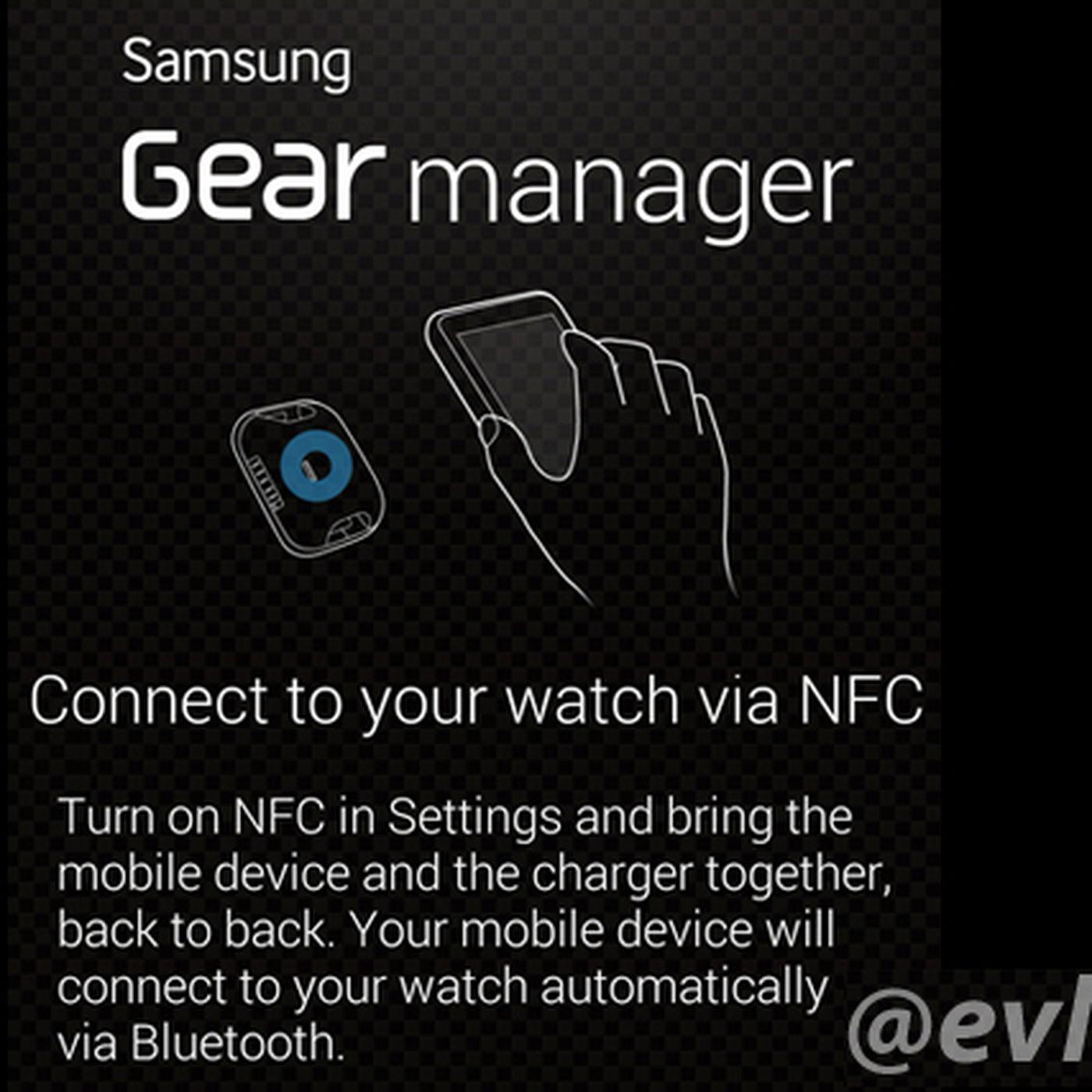 Samsung Galaxy Gear smartwatch app detailed in leaked