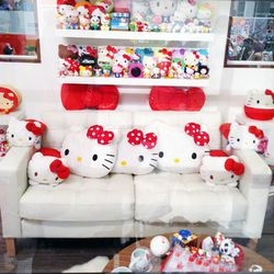 The convention featured an entire mini-house decked out in all Hello Kitty everything.