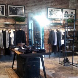 The men's department is located in the back.