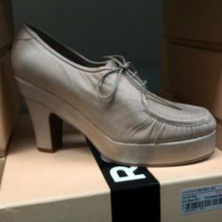 We're not saying you should buy these Rochas old-lady heels ($399.) We're just saying you should know they exist.