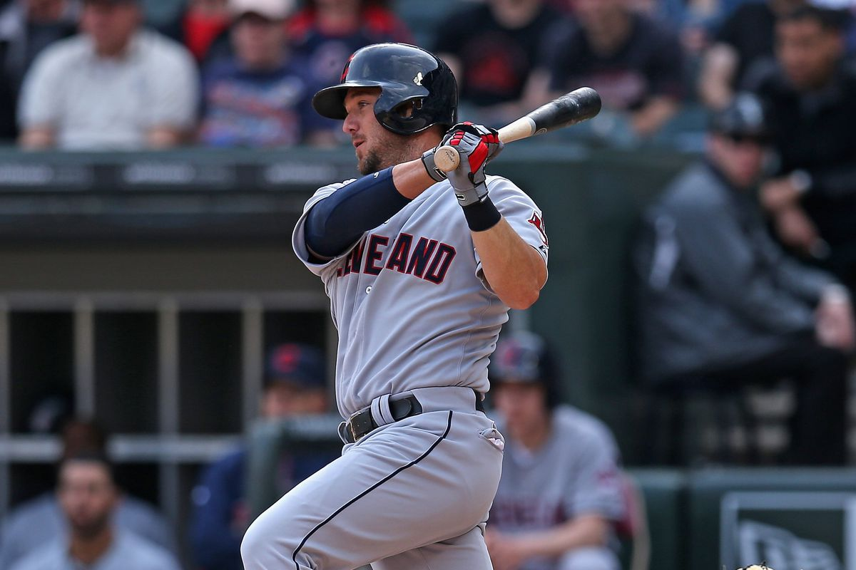 Ryan Raburn's two run single in the seventh gave the Indians the lead