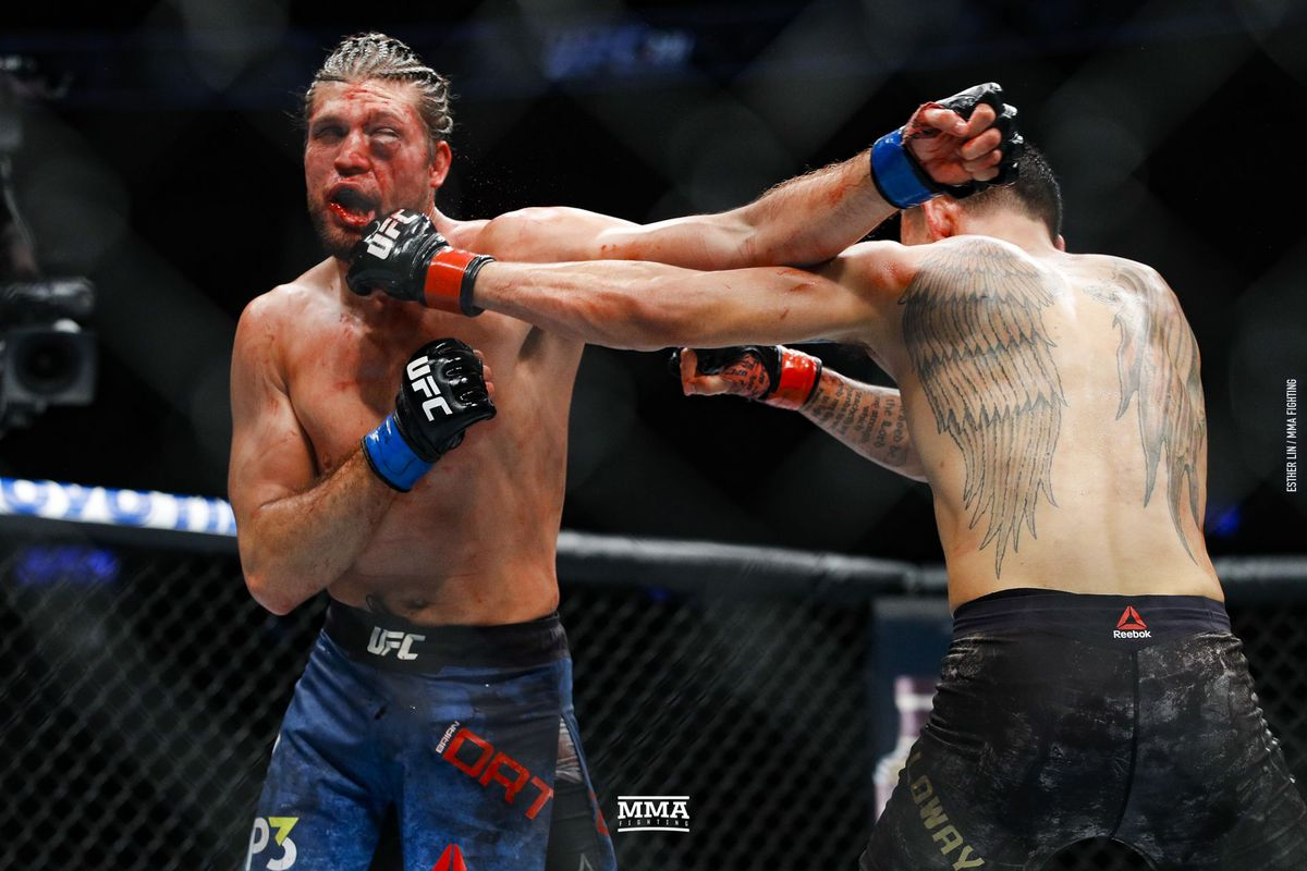 ortega brian mma ufc holloway max fighting loss fight suspensions grisly six months medical potentially lin esther lost