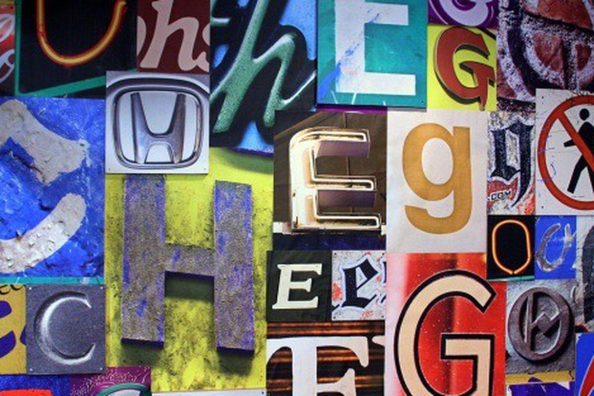 Wall art inside Chego, West LA.
