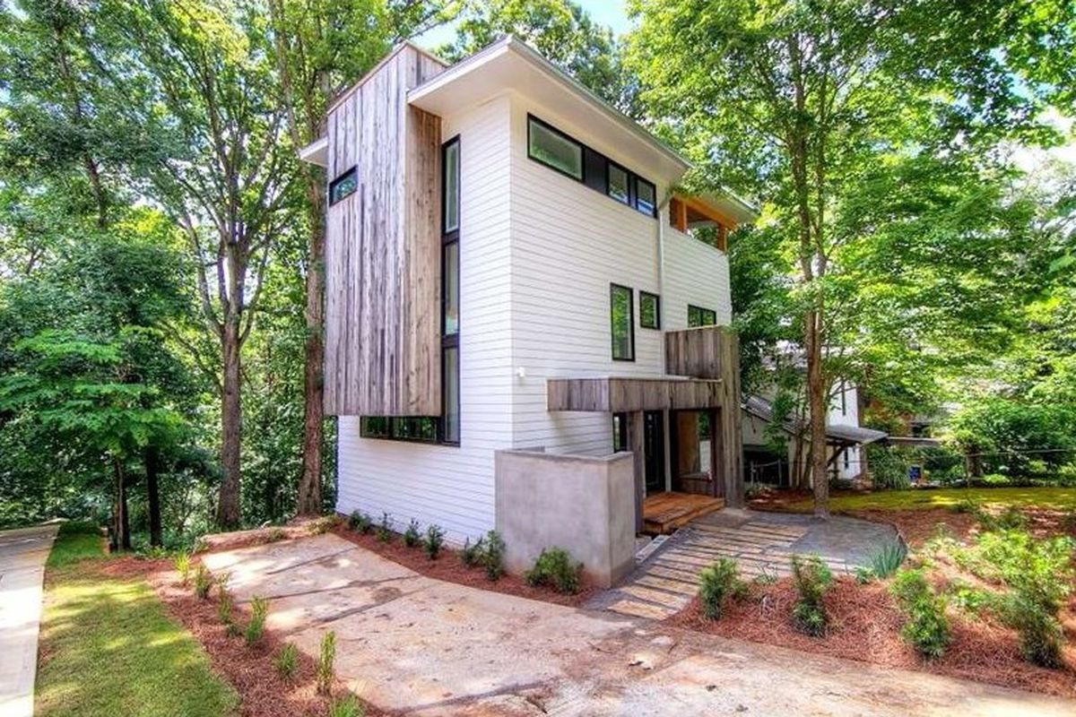 Modern Tree Houses In Decatur Unique Modern Tree House Reduced To 795k Curbed
