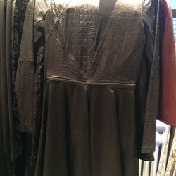 Leather dress, size 2, $475 (was $2,100)