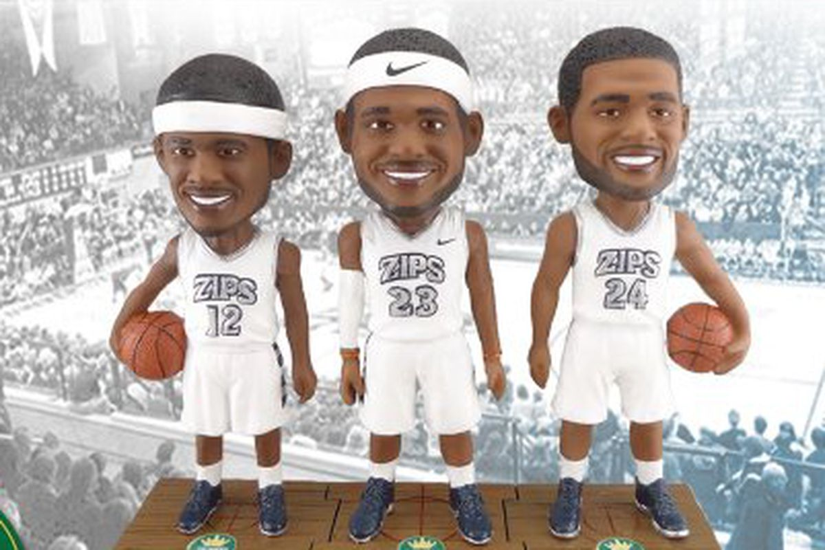 d83f06dad University of Akron claims Akron native LeBron James for bobblehead giveaway