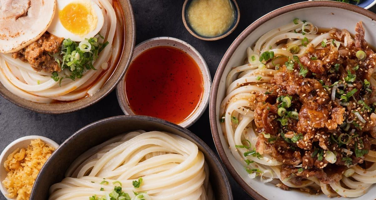 Udon noodles at Marugame Udon in Spitalfields