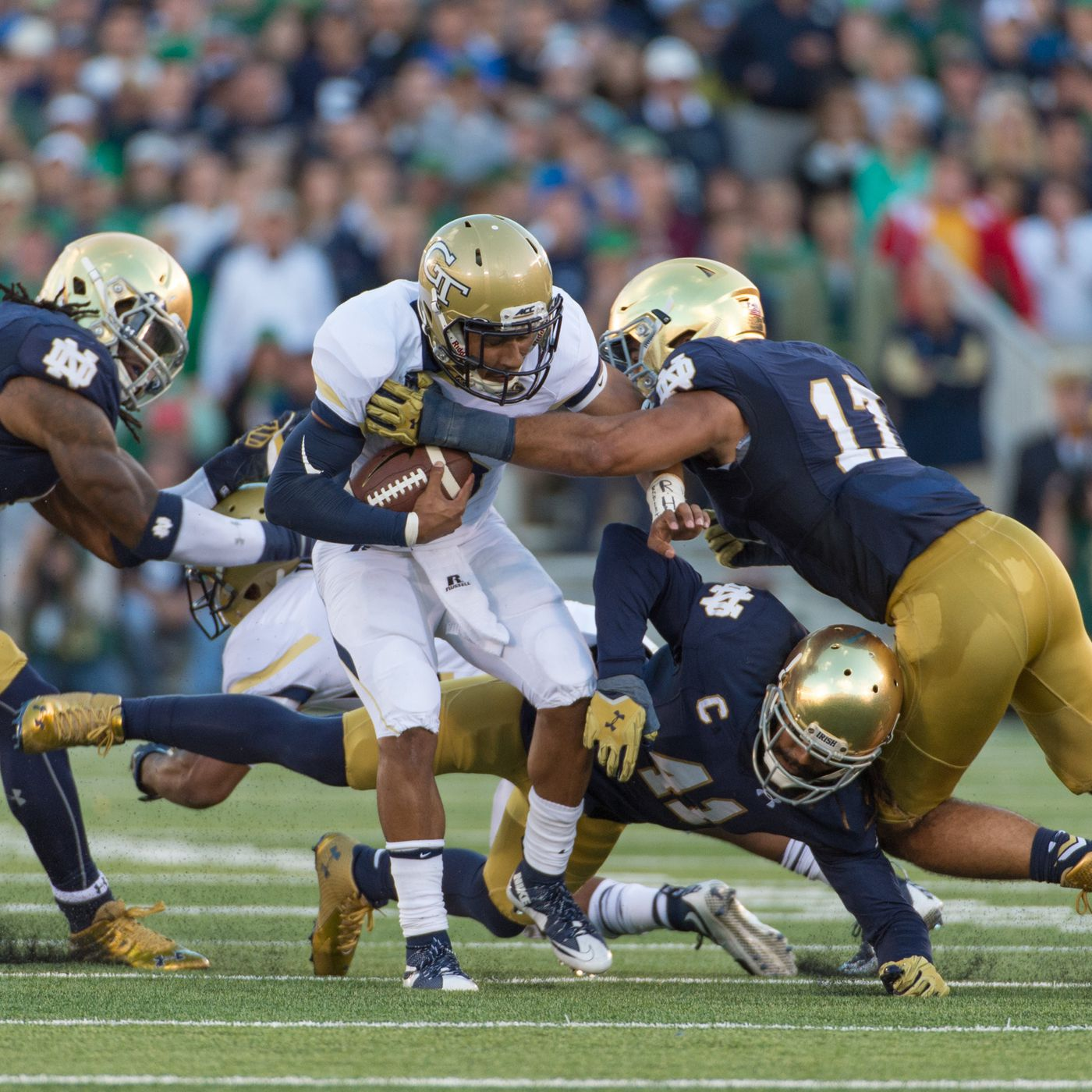 Notre Dame Football Georgia Tech Game Is Moved From Nfl Stadium To Bobby Dodd One Foot Down