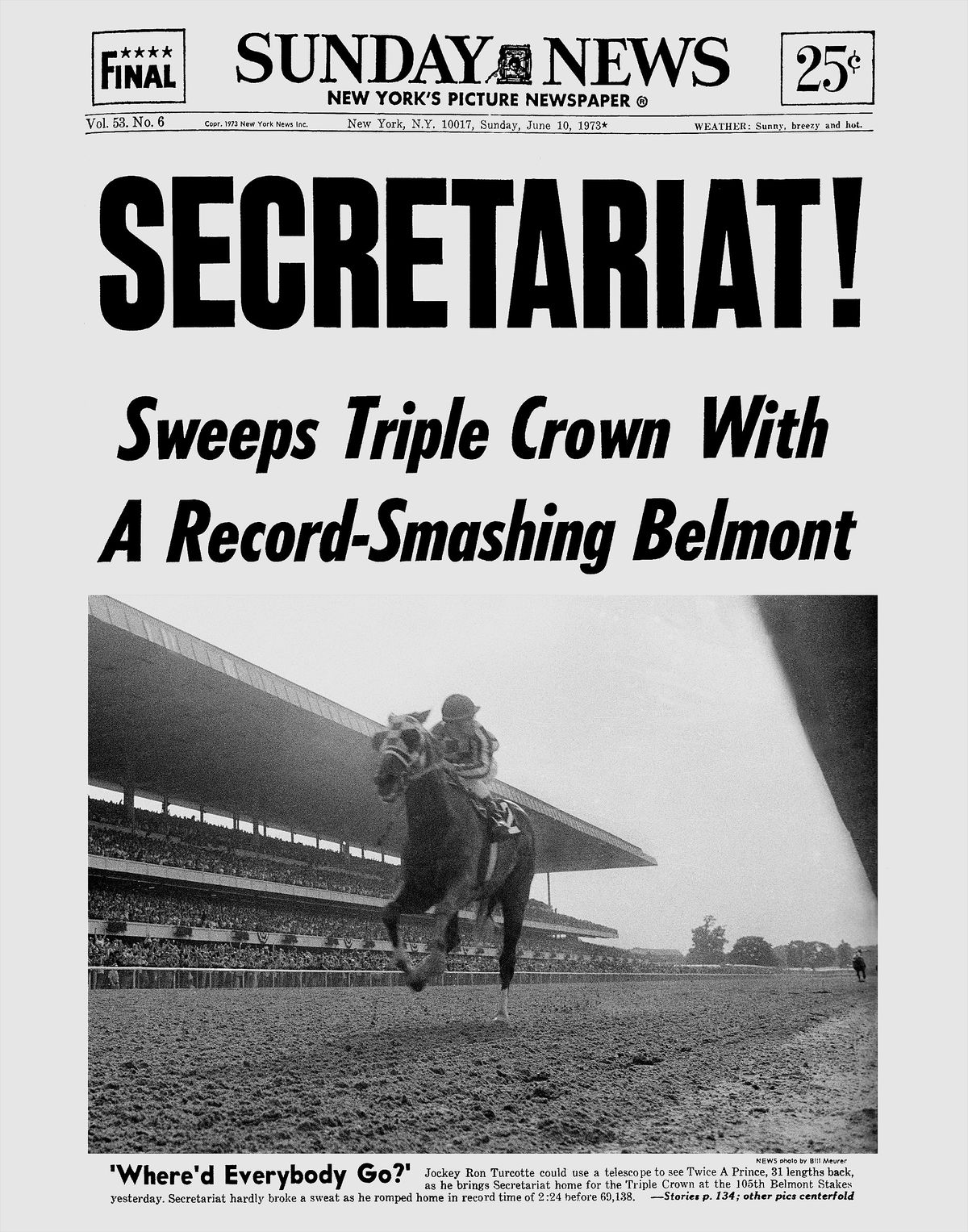 The belmont stakes and the triple crown a non horse racing fans ny daily news archive via getty images falaconquin