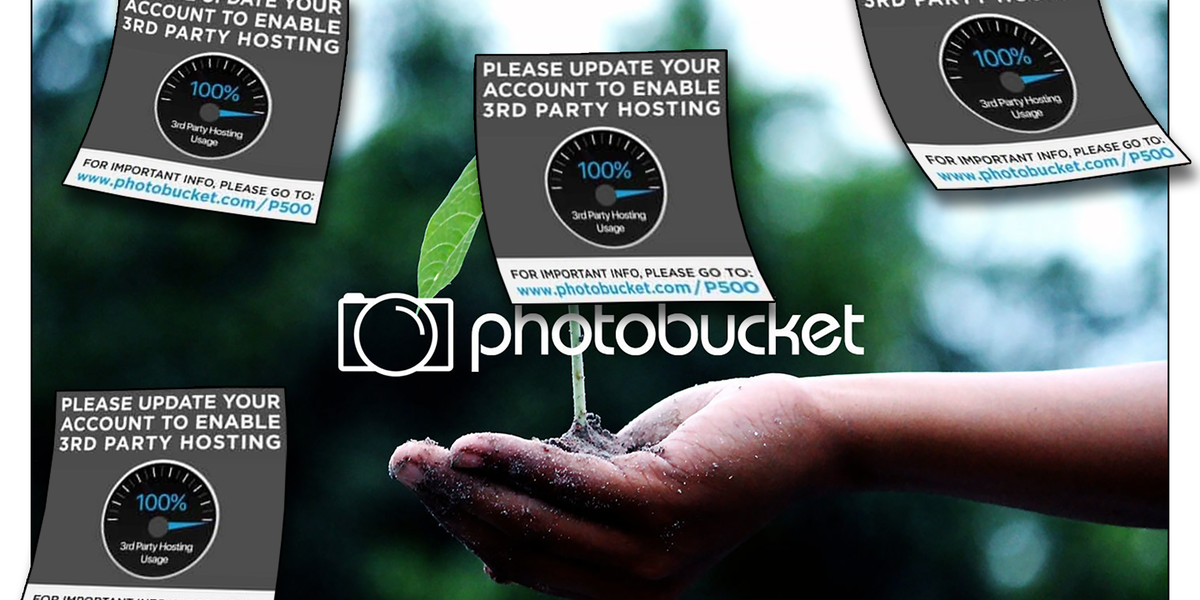 Photobucket still has your photos, and it wants you to come back