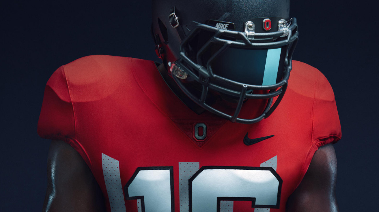 Ohio State's wearing 1916 throwback Nike uniforms and cannonball ...