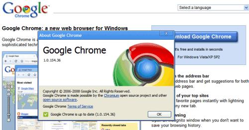 google chrome pour windows xp