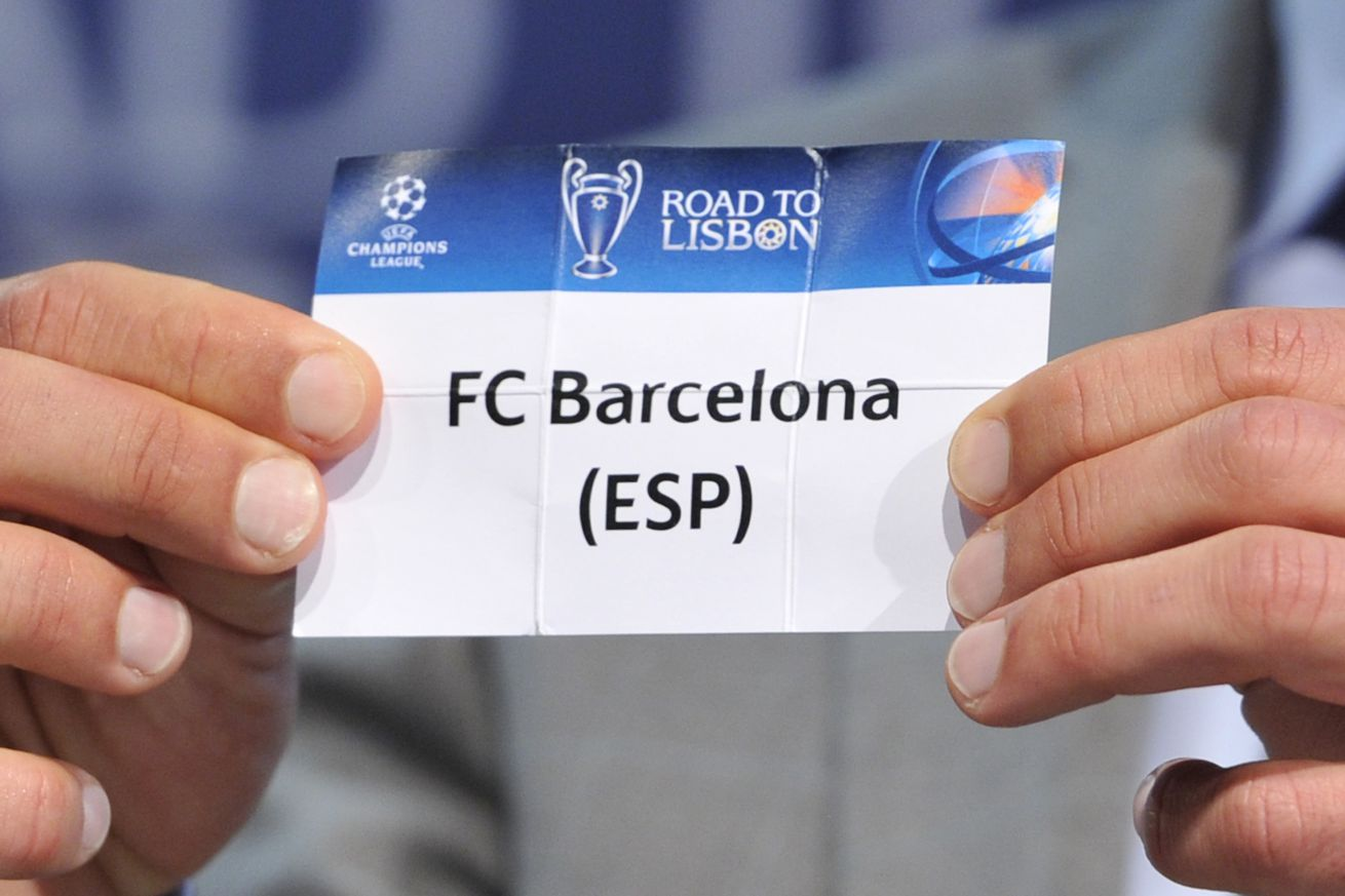 Who do Barca want to face in the Champions League last 16""