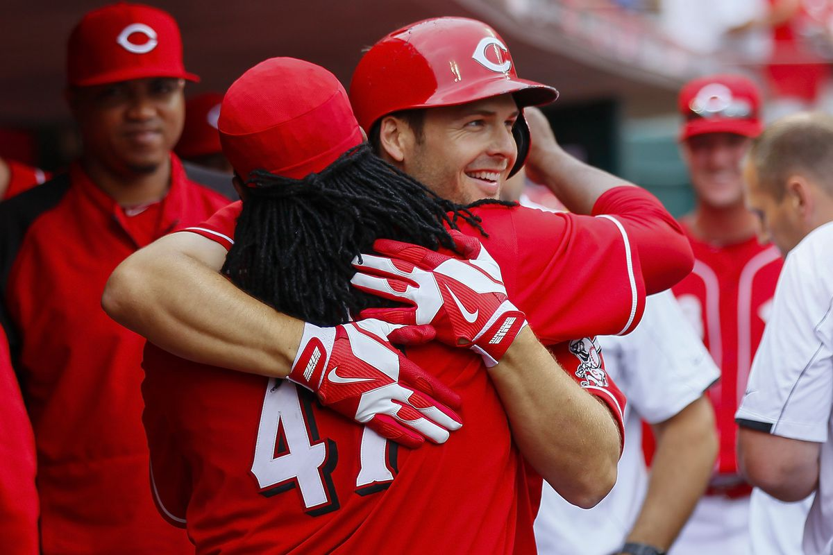 The 3 non-Cueto Reds in this picture are no longer Reds, either.