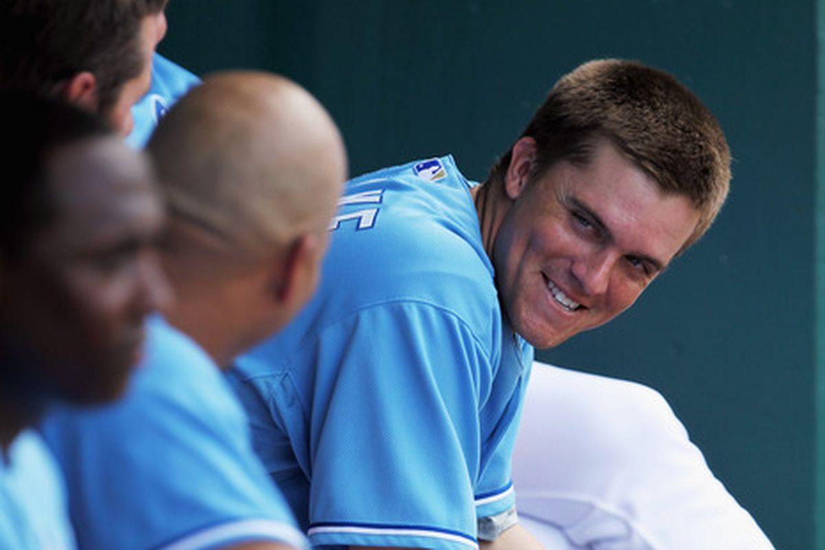 New Dodgers pitcher Zack Greinke has reason to smile.