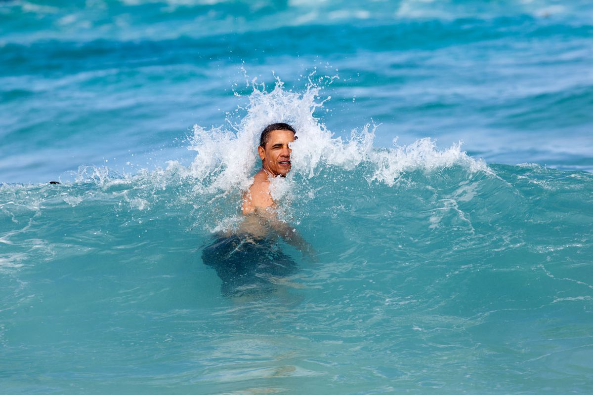 President Obama vacations in Hawaii, 2013.