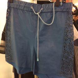 Leather shorts, $80