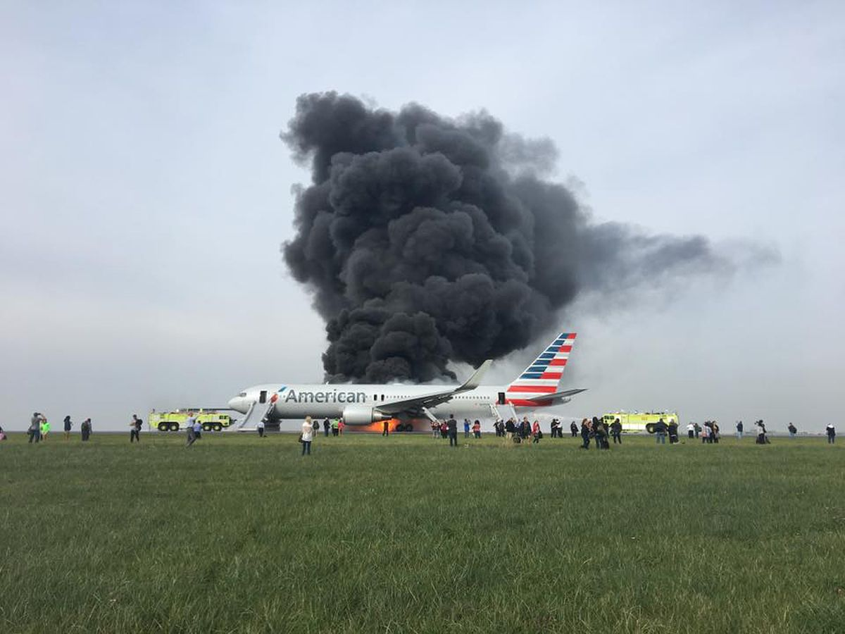 Hector Cardenas posted this picture to Facebook after he and other passengers were evacuated from American Airlines Flight 383 at O'Hare International Airport. | Photo courtesy of Hector Cardenas