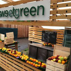 Sweetgreen food stands were scattered throughout the festival grounds. More than 75 of the franchise staff were on-hand to serve salads.