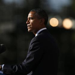 President Barack Obama speaks at a memorial service for the victims of the Washington Navy Yard shooting at Marine Barracks Washington Sunday, Sept. 22, 2013.