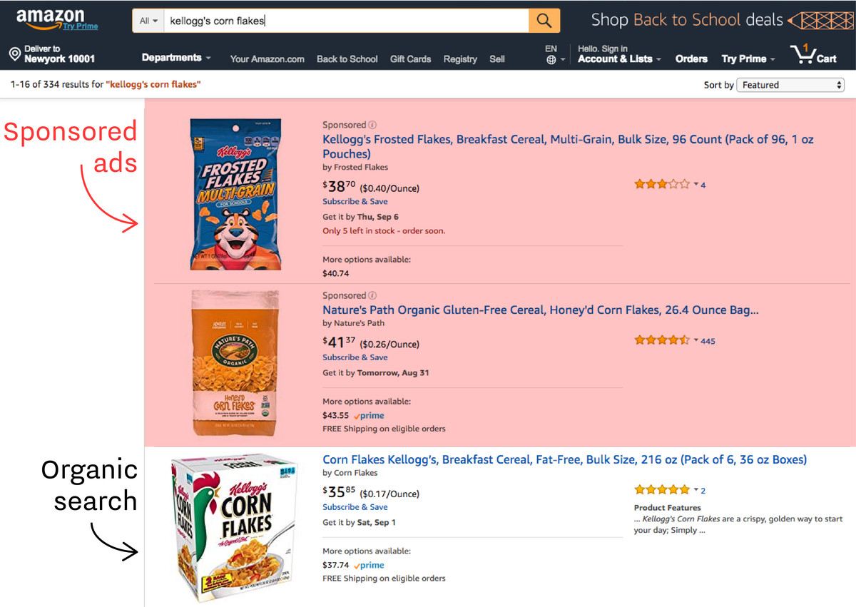 Amazon Is Stuffing Its Search Results Pages With Ads