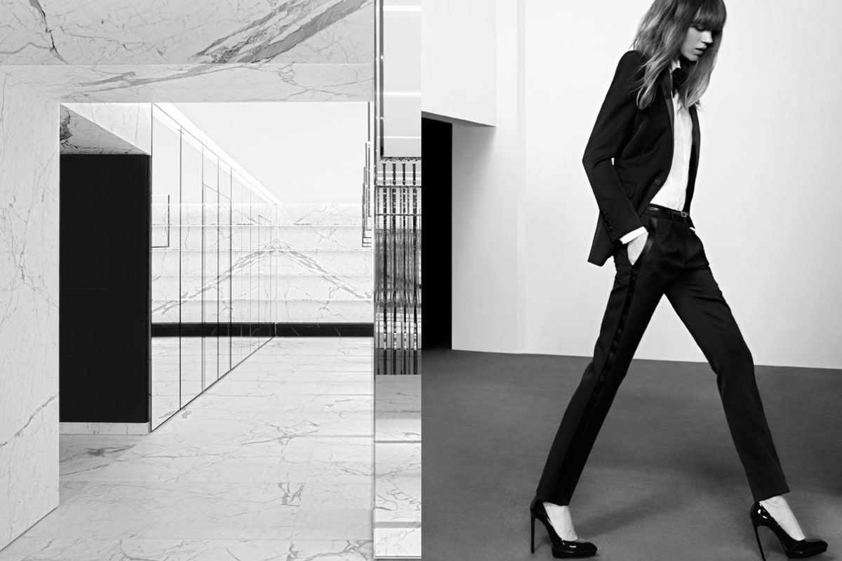 "Campaign image via <a href=""http://fashiongonerogue.com/freja-beha-erichsen-stars-in-saint-laurent-pre-fall-2013-campaign-by-hedi-slimane/"">Fashion Gone Rogue</a>"