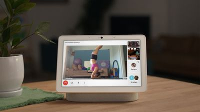 A group call in Google Meet on the Nest Hub Max smart display