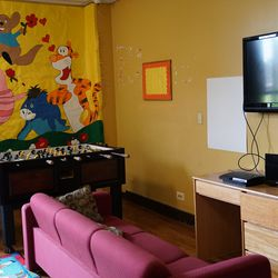 Pictures of Winnie the Pooh and friends adorn the walls. | Provided by Heartland Alliance