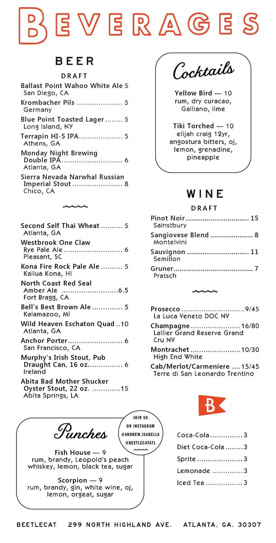 BeetleCat menu 3