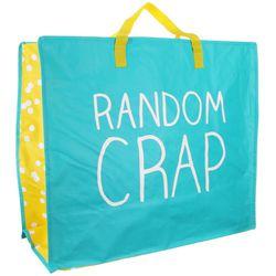 "Bag, <a href=""http://www.amazon.com/Happy-Jackson-Large-Oversized-Random/dp/B00BBX898A"">$14.95</a> on Amazon. Similar on <a href=""http://www.asos.com/Happy-Jackson/Happy-Jackson-Random-Crap-Bag-Medium/Prod/pgeproduct.aspx?iid=3841066"">Asos</a>"