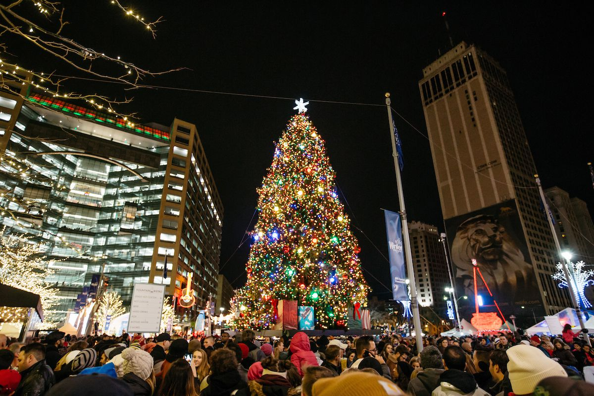 christmas tree lighting chicago perfect tree photo by michelle