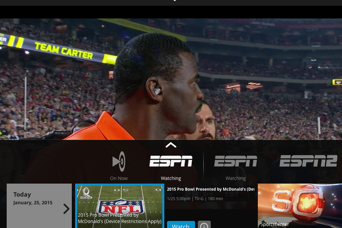 The Sling TV app offers streaming ESPN, without a cable or satellite subscription. That's a first.