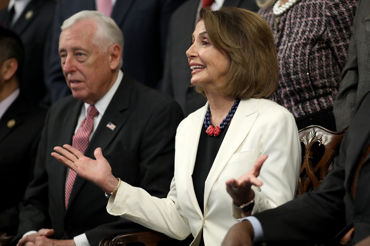 Nancy Pelosi And New House Leadership Hold Press Conference At The Capitol