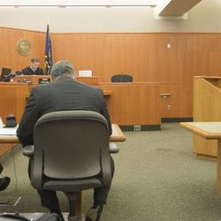 Third District Judge Ryan Harris sets a bond for $17.5 million dollars that if accepted by Park City Mountain Resort would allow the resort to run the ski operations there for the upcoming winter season. The amount was disclosed during a hearing at the Summit County Justice Center in Park City, Friday, Sept. 5, 2014.