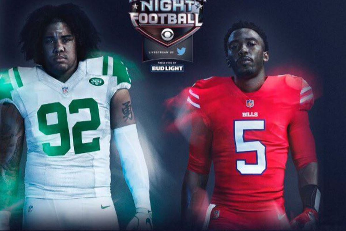 newest e7b75 ec762 Here Are the Uniforms the Jets and Bills Are Wearing ...