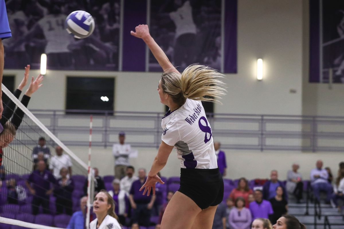 Megan Gneiting hits a ball against Southern Utah on Saturday afternoon.