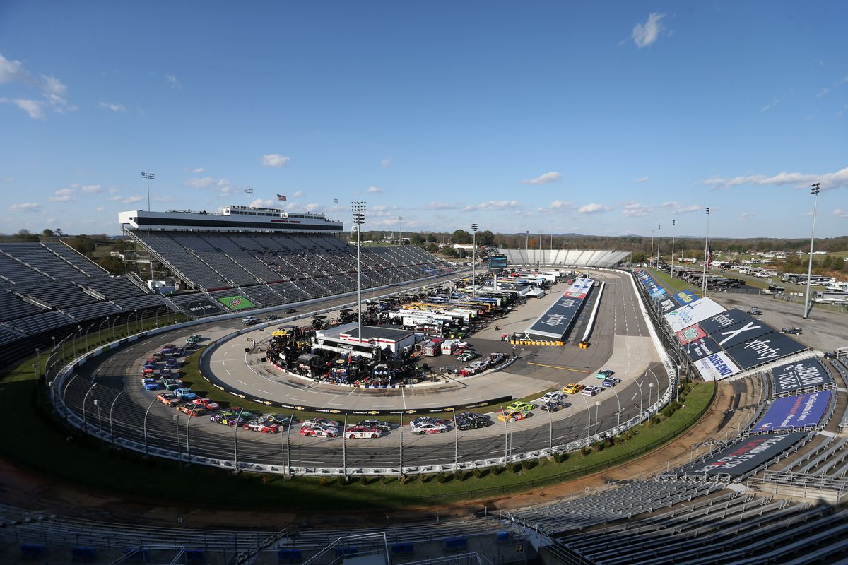 A general view of the NASCAR Cup Series Xfinity 500 at Martinsville Speedway on November 01, 2020 in Martinsville, Virginia.