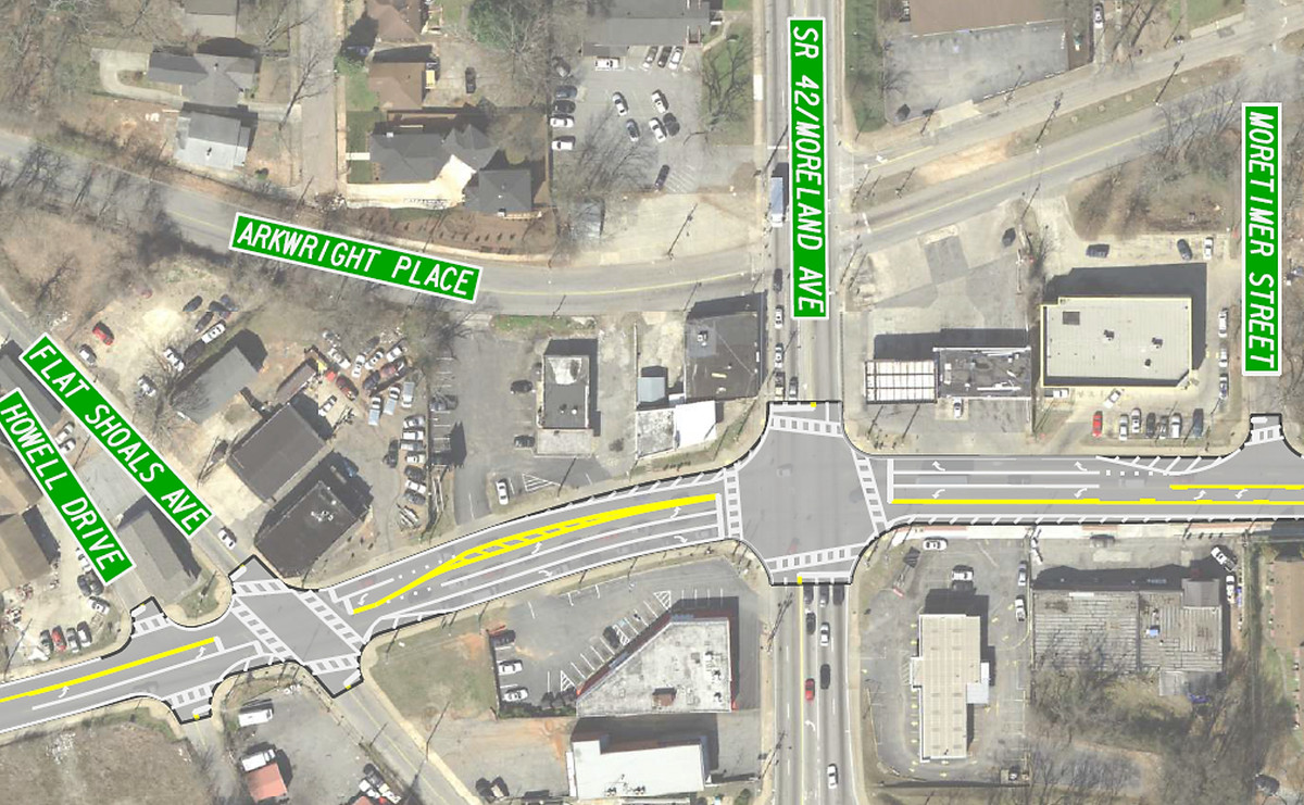 GDOT to strip part of Memorial Drive of its 'suicide lanes' - Curbed