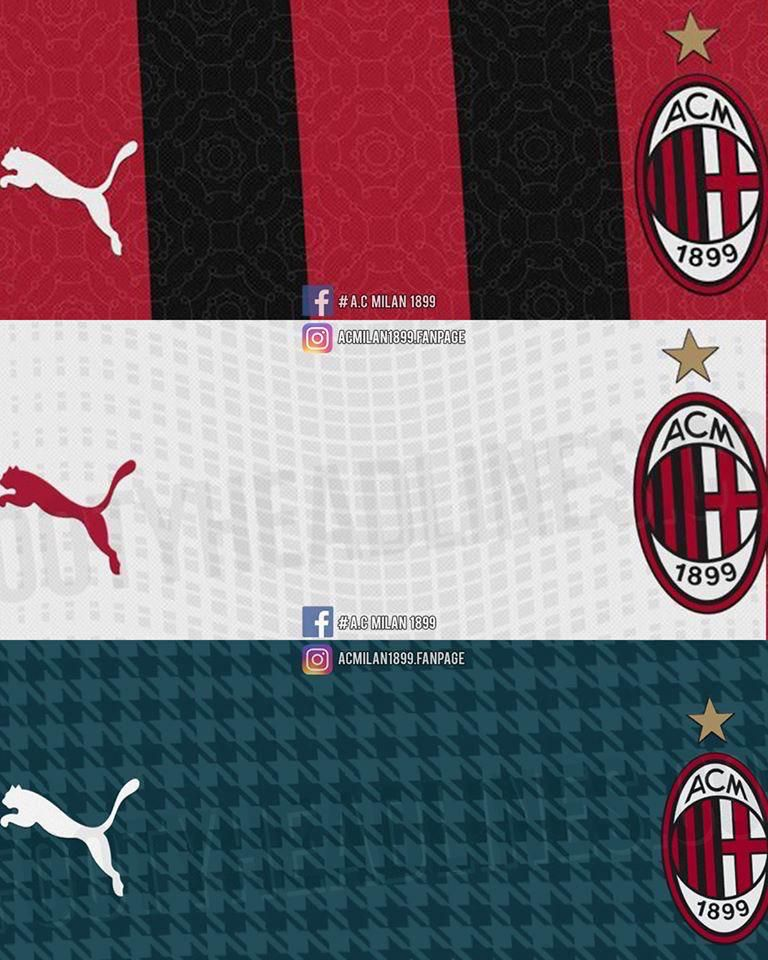 Leaked Ac Milan Home Shirt For 2020 21 Mock Up Surfaces Online The Ac Milan Offside