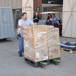 More equipment being moved out of Wrigley