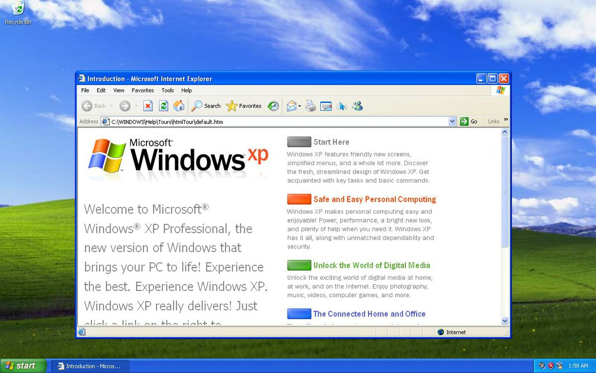Internet Explorer 6 on Windows XP