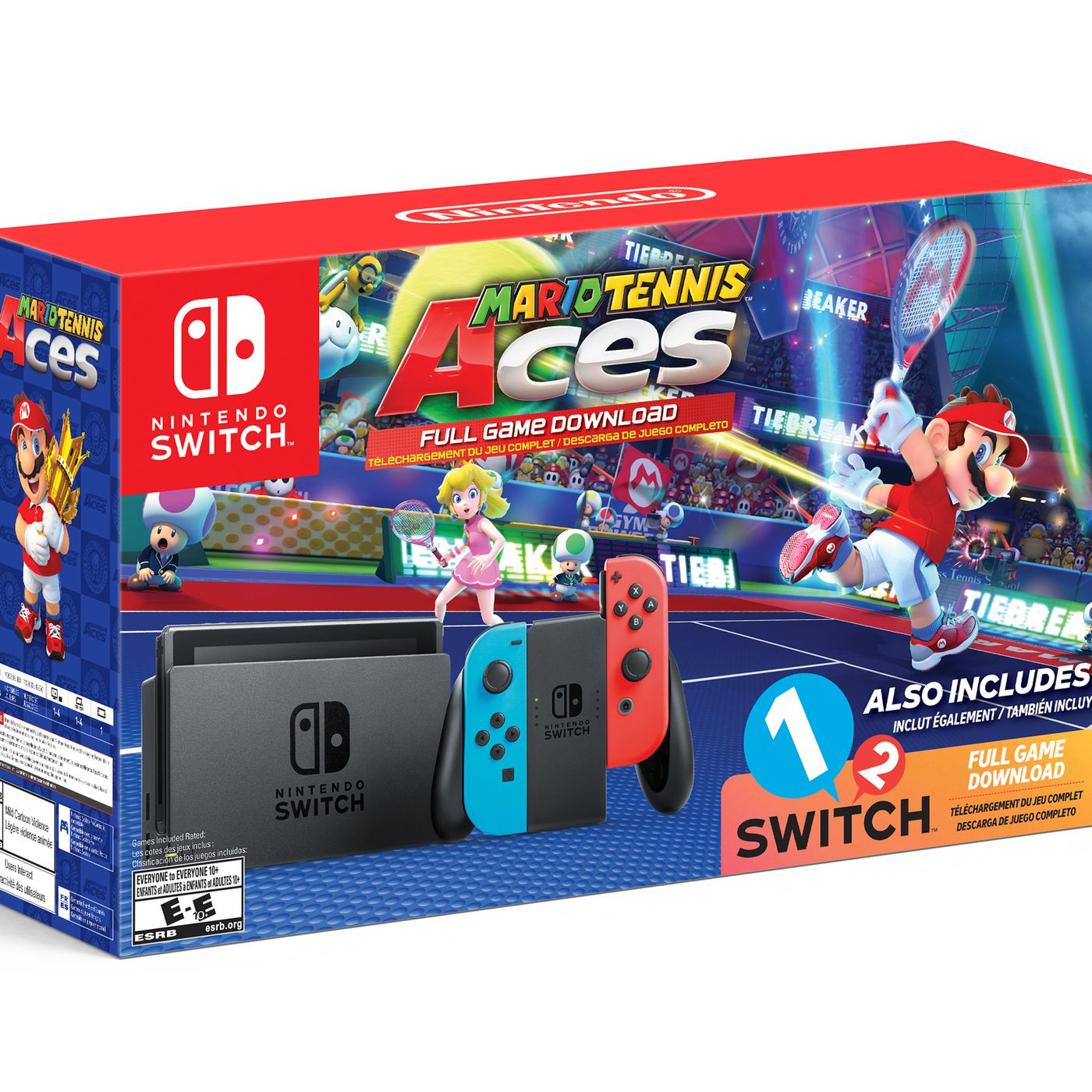 Walmart S Nintendo Switch Bundle Includes Mario Tennis Aces 1 2
