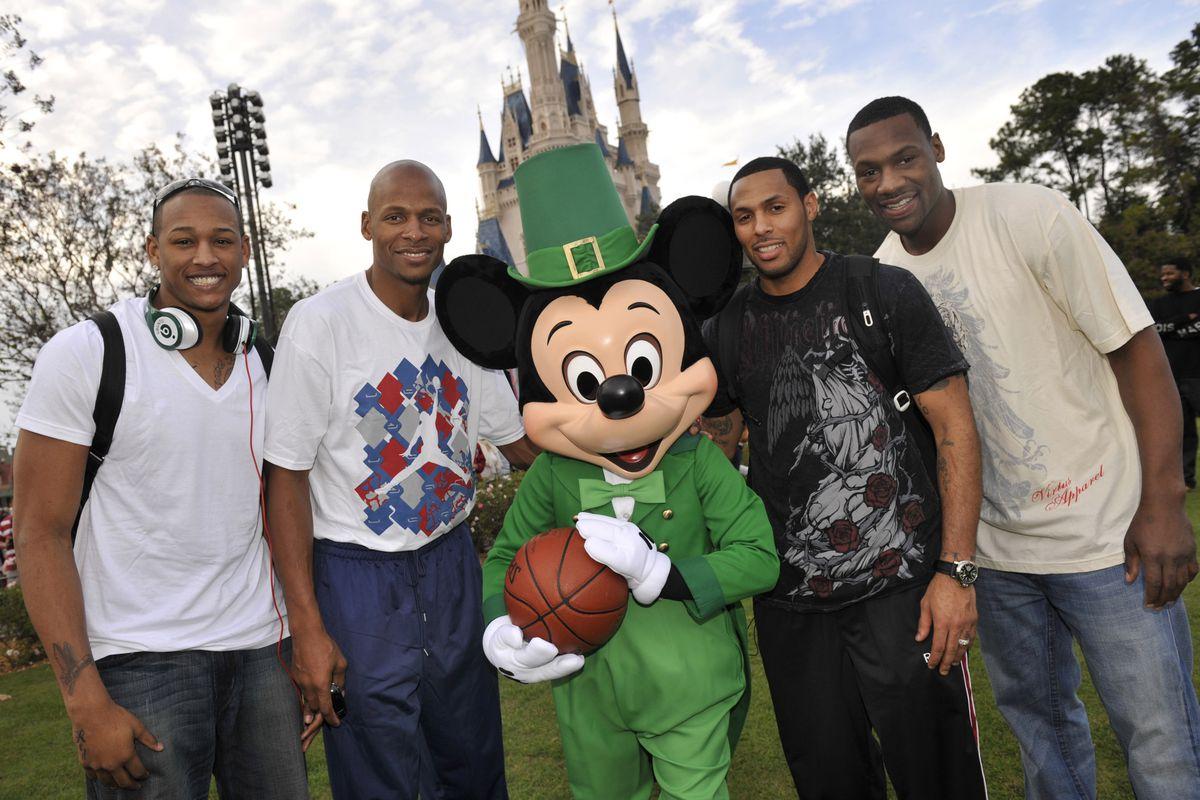 Boston Celtics Players Visit Magic Kingdom