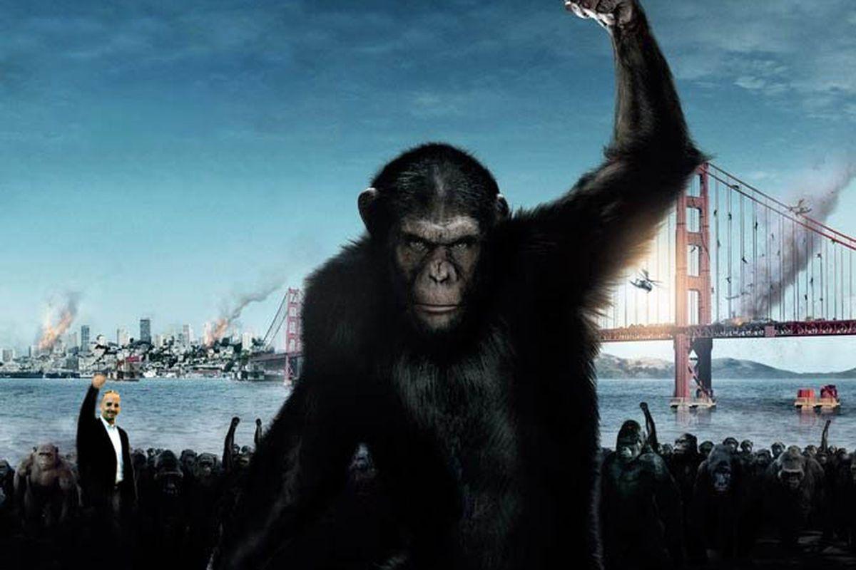 The ape shall inherit the earth.