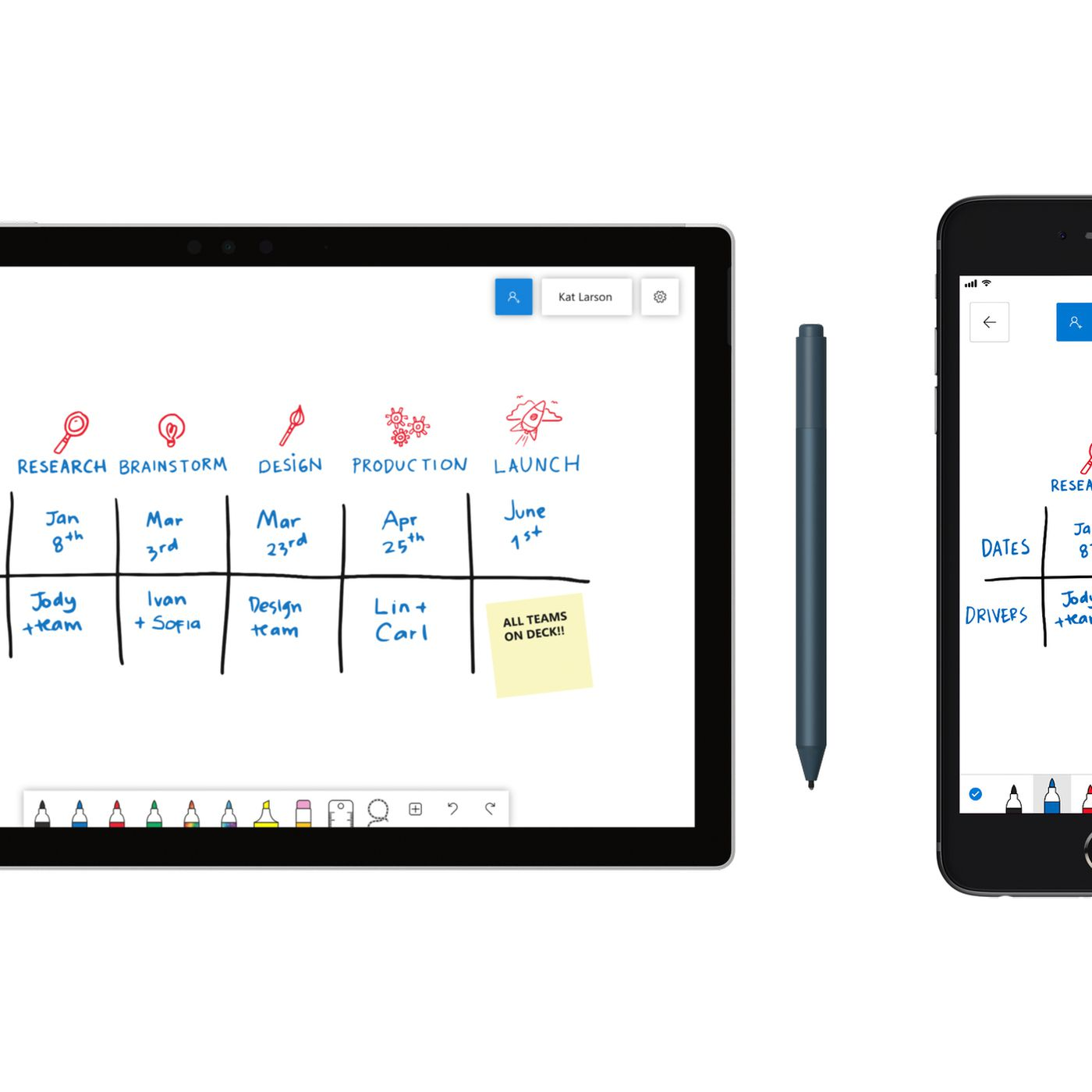 theverge.com - Tom Warren - Microsoft's collaborative Whiteboard app is coming to Windows 10, iOS, and the web