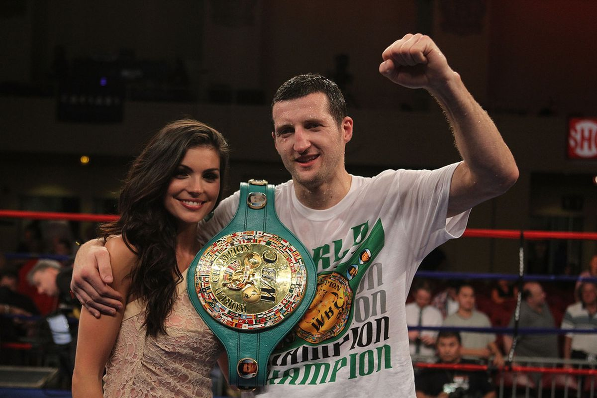 Carl Froch is the underdog, but is ready for his October 29 fight with Andre Ward. (Photo by Al Bello/Getty Images)