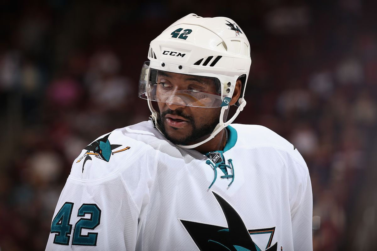 Sharks Joel Ward will play Thursday night. But will he stand?