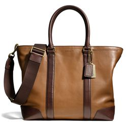 """<a href=""""http://f.curbed.cc/f/Coach_SP_031214_BizTote"""">Bleecker Business Tote in Harness Leather</a>, $598"""