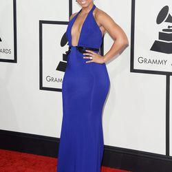 Alicia Keys in custom Armani Prive.