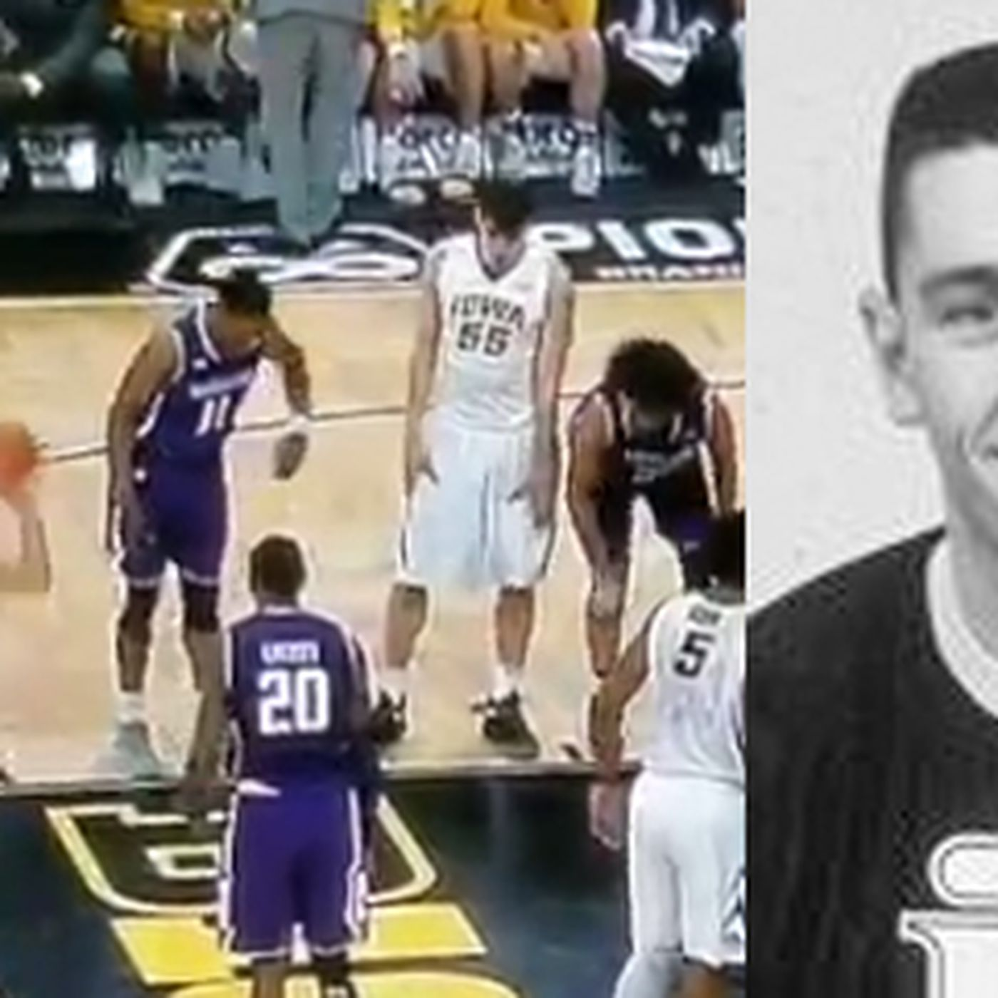 Iowa's point guard intentionally missed a free throw so he